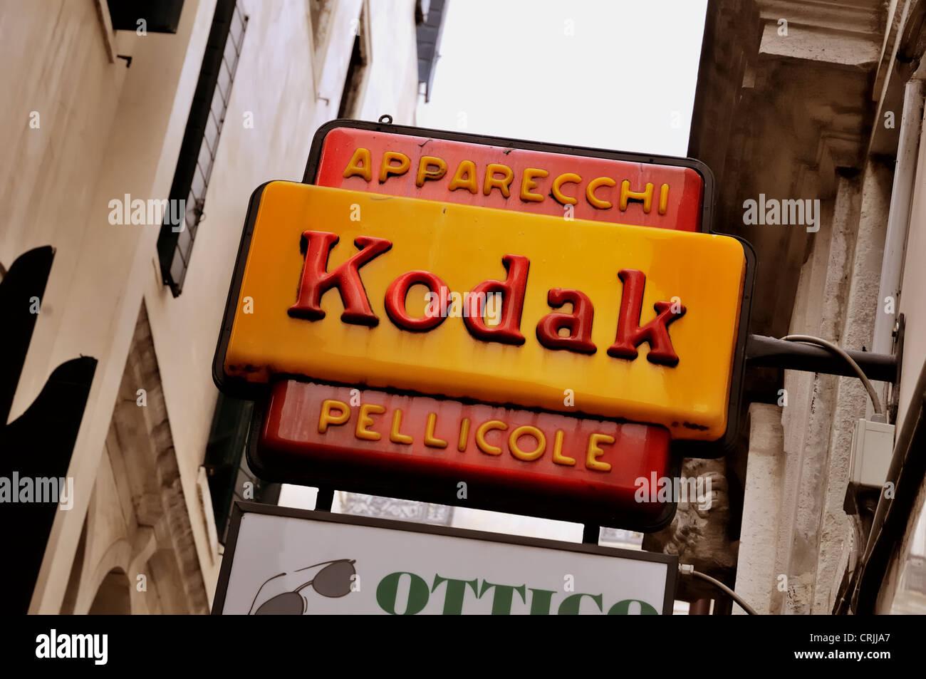 kodak film sign italy venice alamy clipping included path icon
