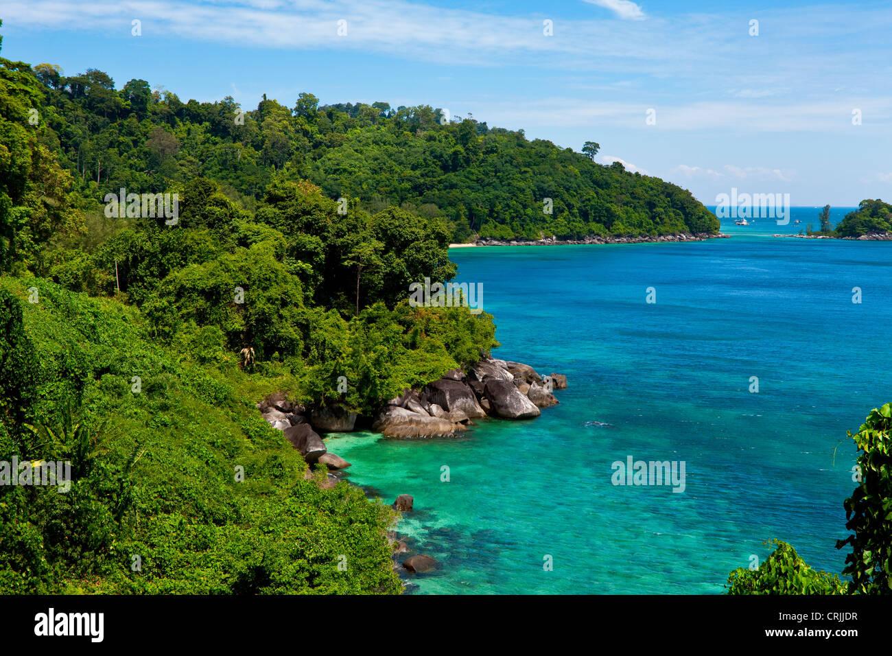 Tioman Island in South China sea, Malaysia - Stock Image