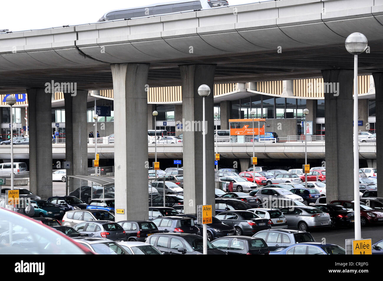 cars parking roissy charles de gaulle airport terminal 2 paris france stock photo 48967508 alamy. Black Bedroom Furniture Sets. Home Design Ideas