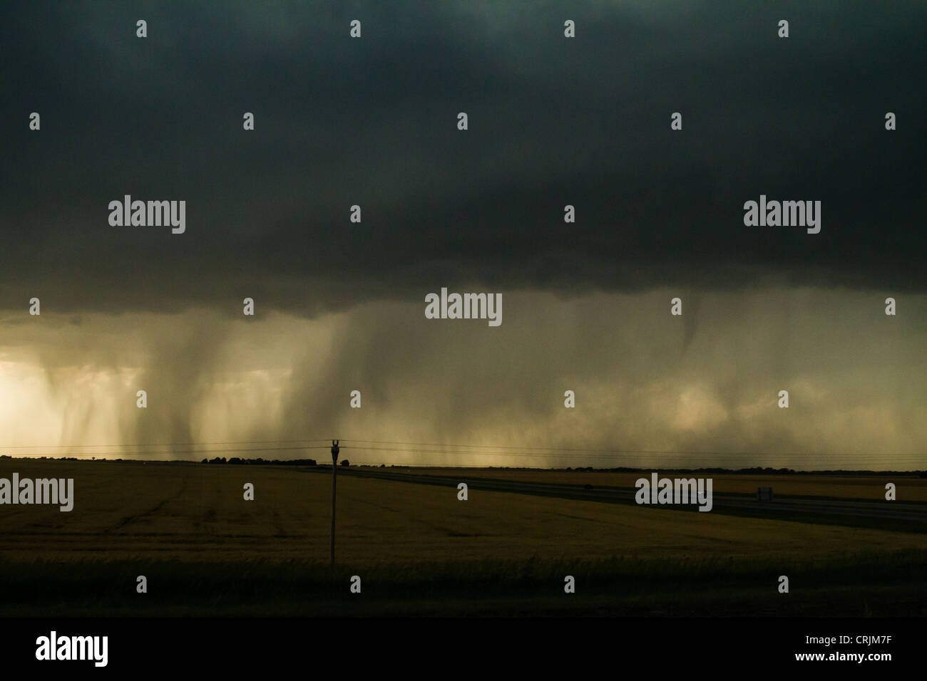 Rain Wrapped Tornado, Kingman Kansas May 19 2012 - Stock Image