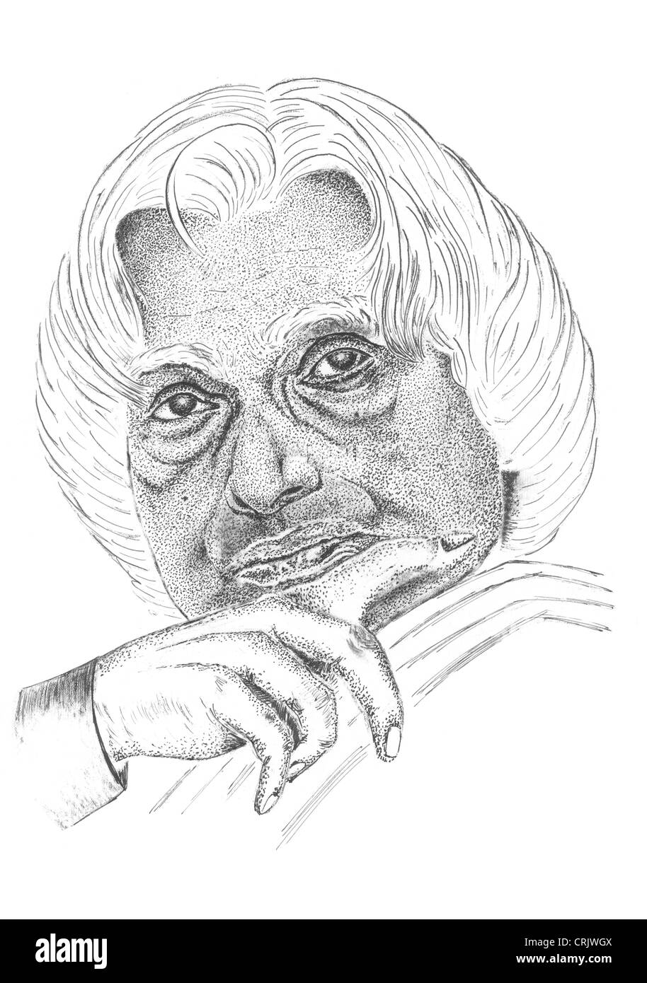 A p j abdul kalam 11th president of india stock image
