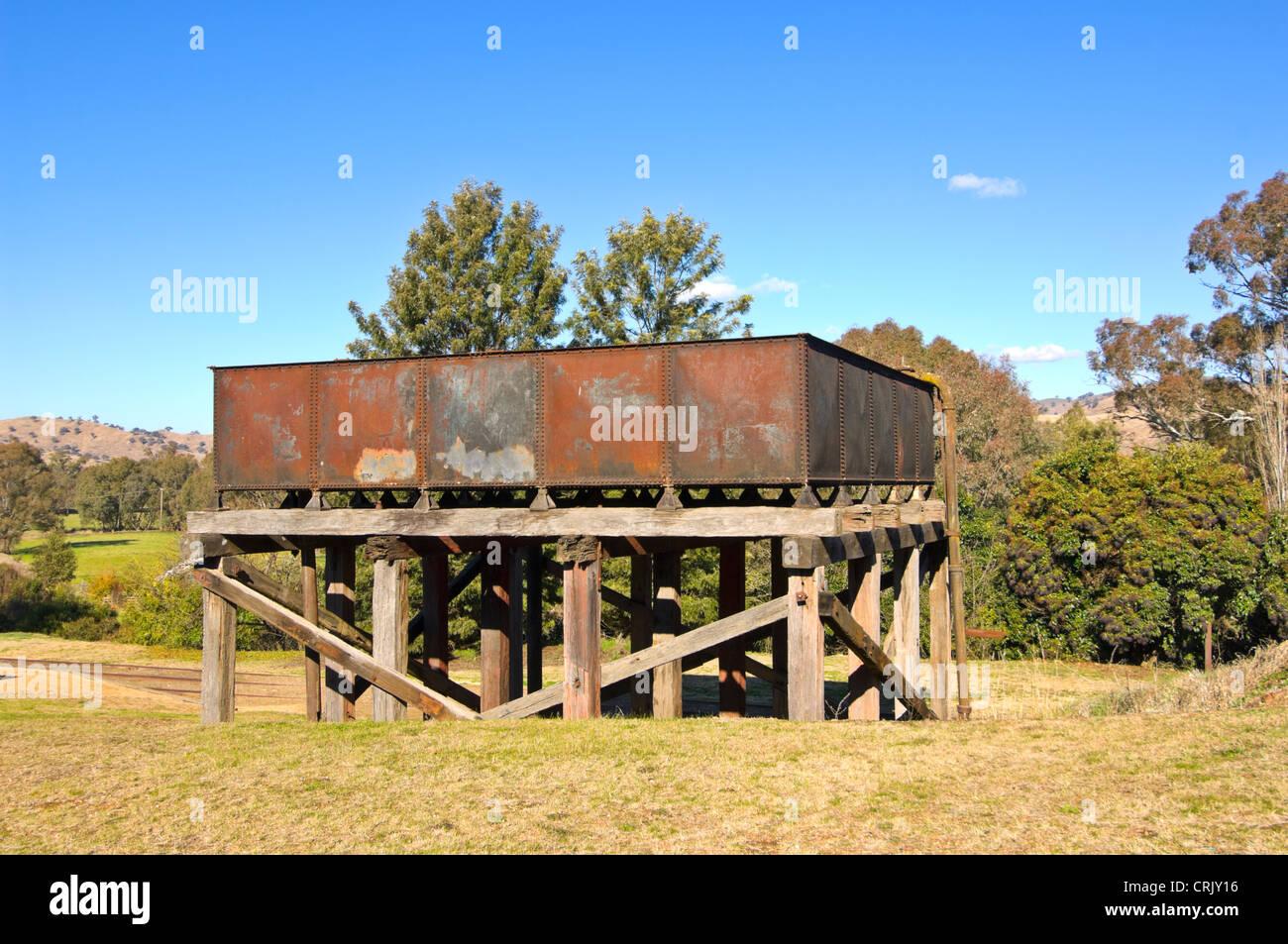 Old Railway Water Tank, Gundagai, New South Wales, Australia - Stock Image