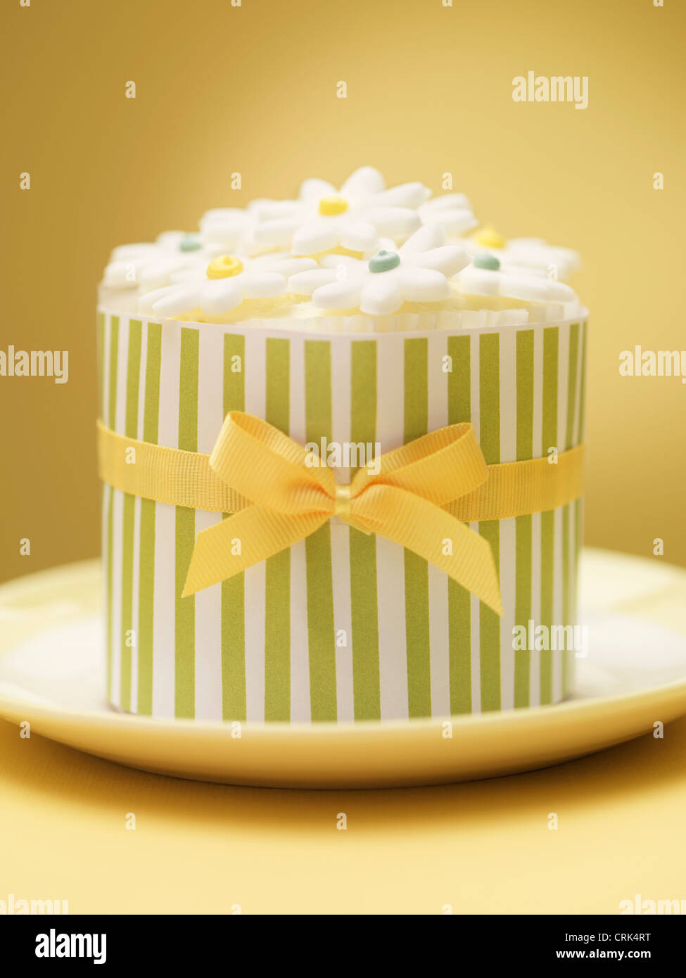 Decorated cookies in ornate tin - Stock Image