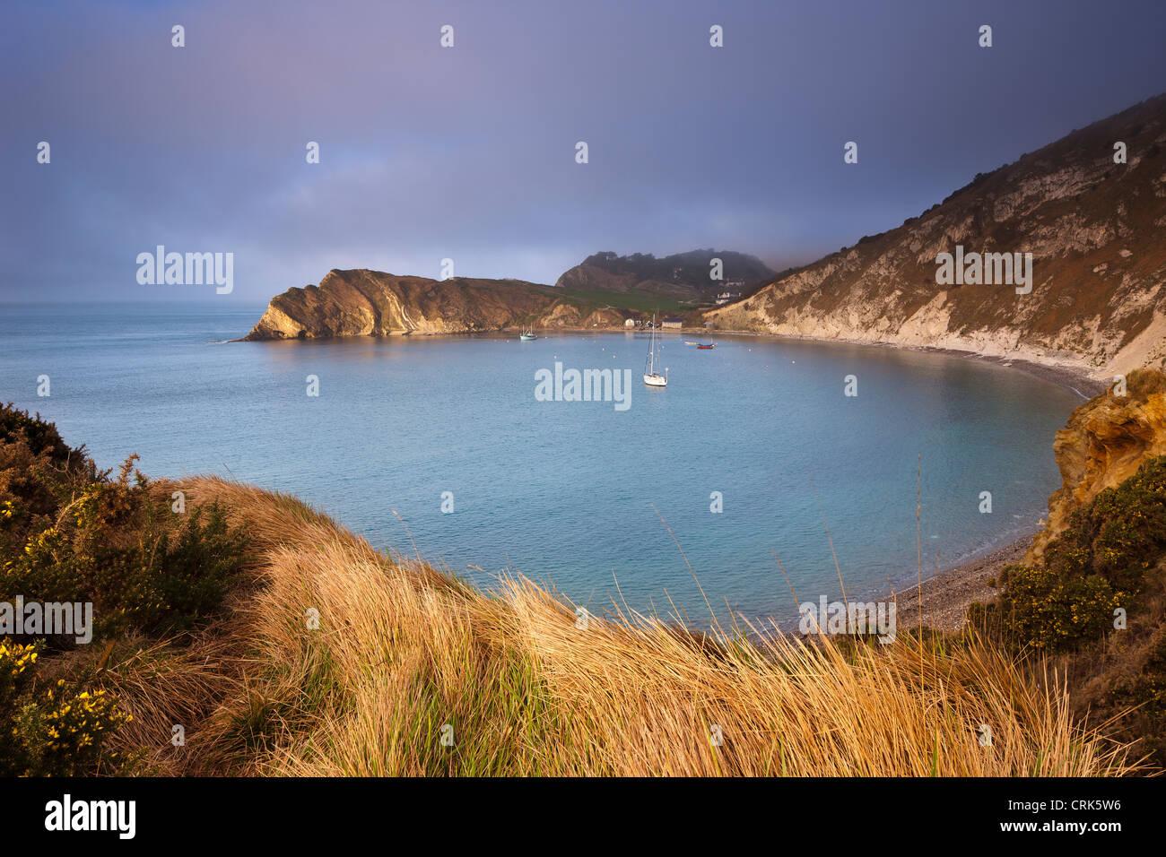 Lulworth Cove, Jurassic Coast, Dorset, England, UK - Stock Image