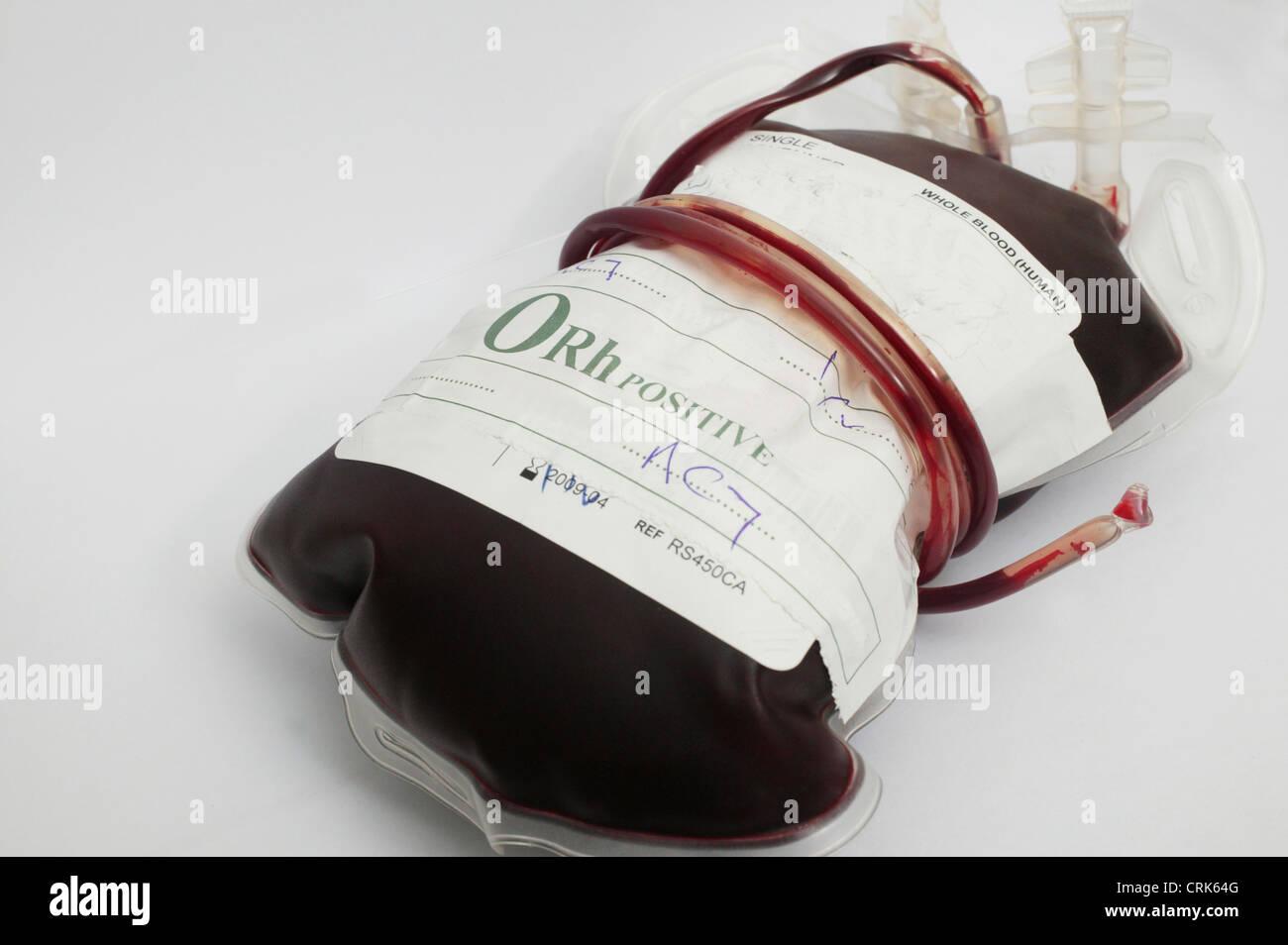 O Positive Type Blood Bag