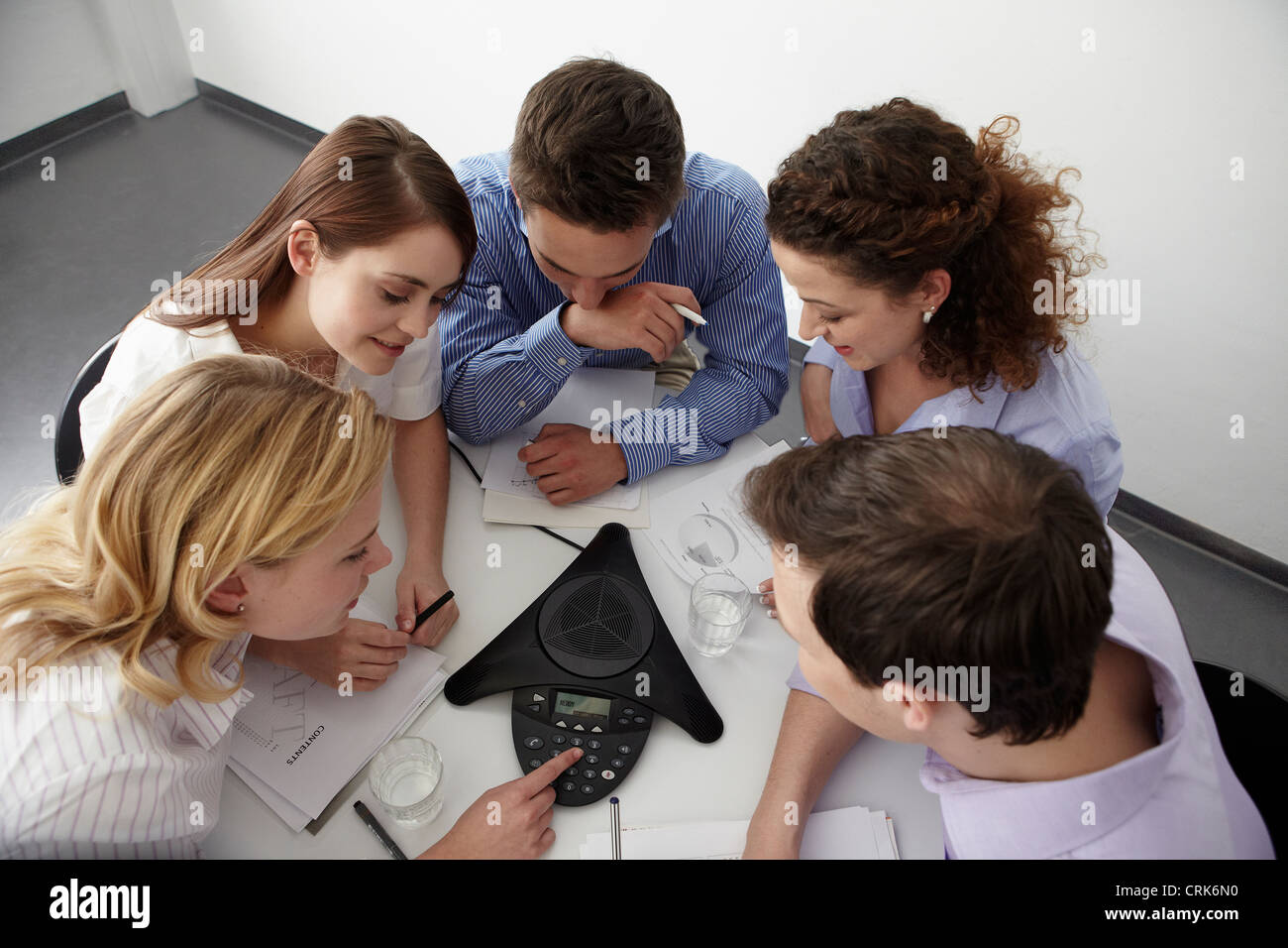 Business people in conference call - Stock Image