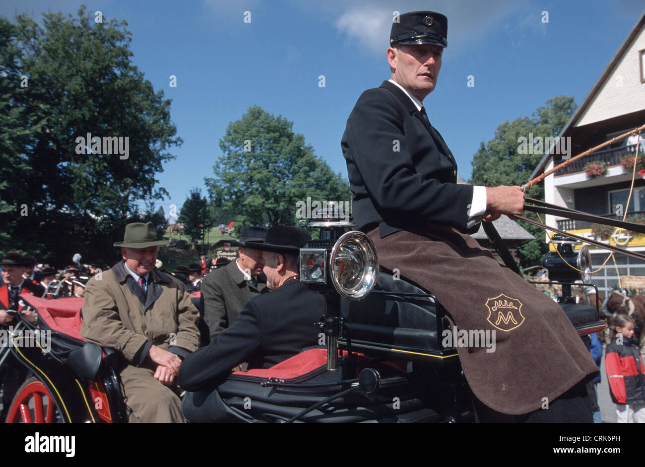 Coachman on parade in the Black Forest - Stock Image