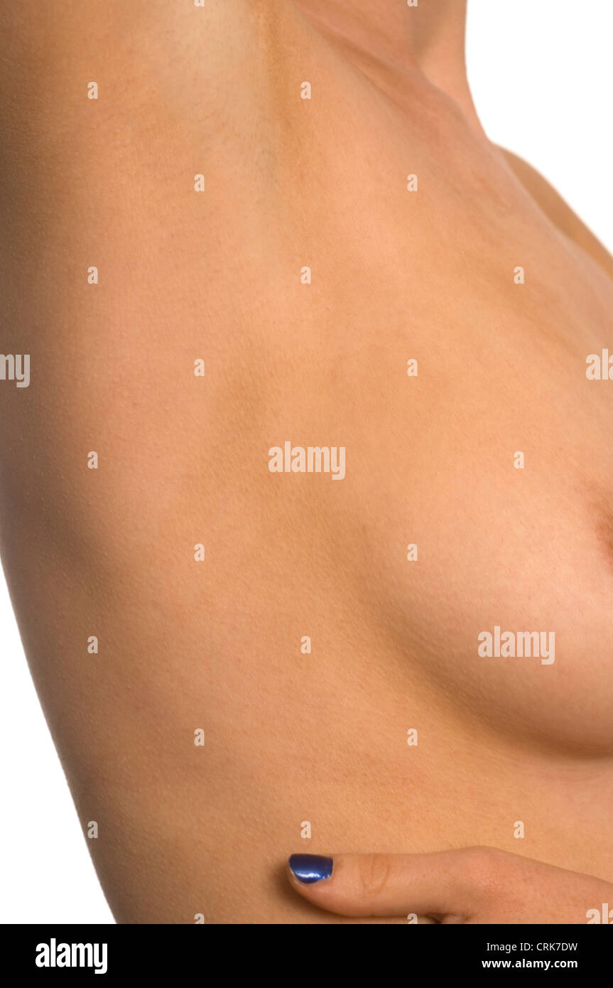 Close-up of a female armpit. - Stock Image