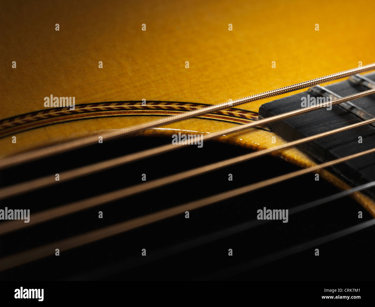 Close up of guitar string Stock Photo
