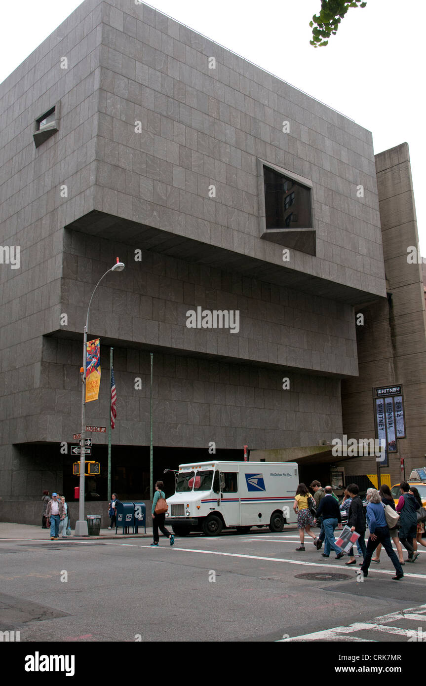 Witney Museum of American Art on Madison Avenue New York USA - Stock Image
