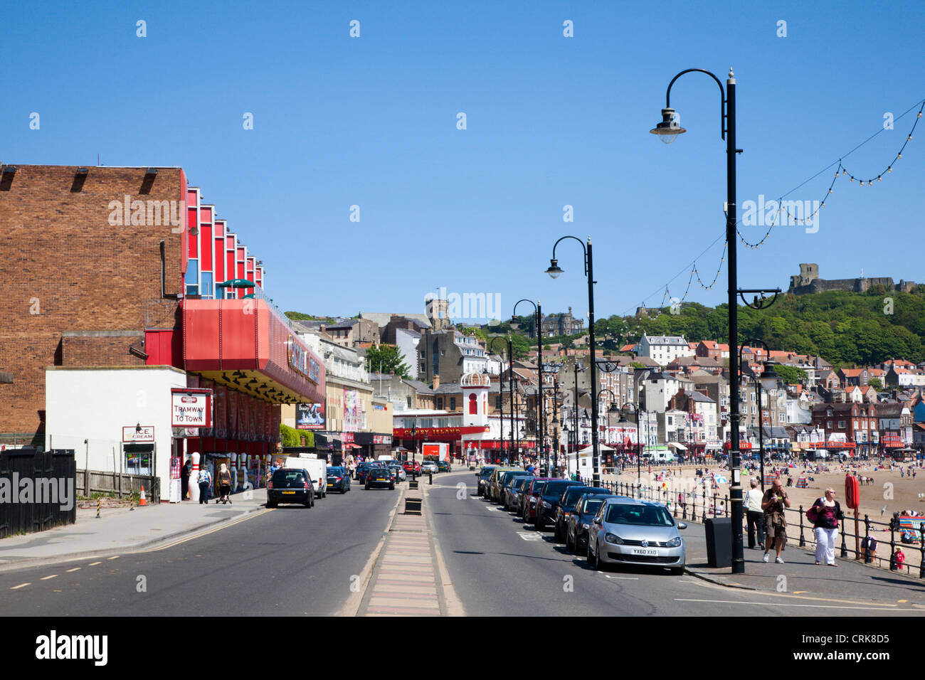Foreshore Road in Scarborough North Yorkshire England - Stock Image