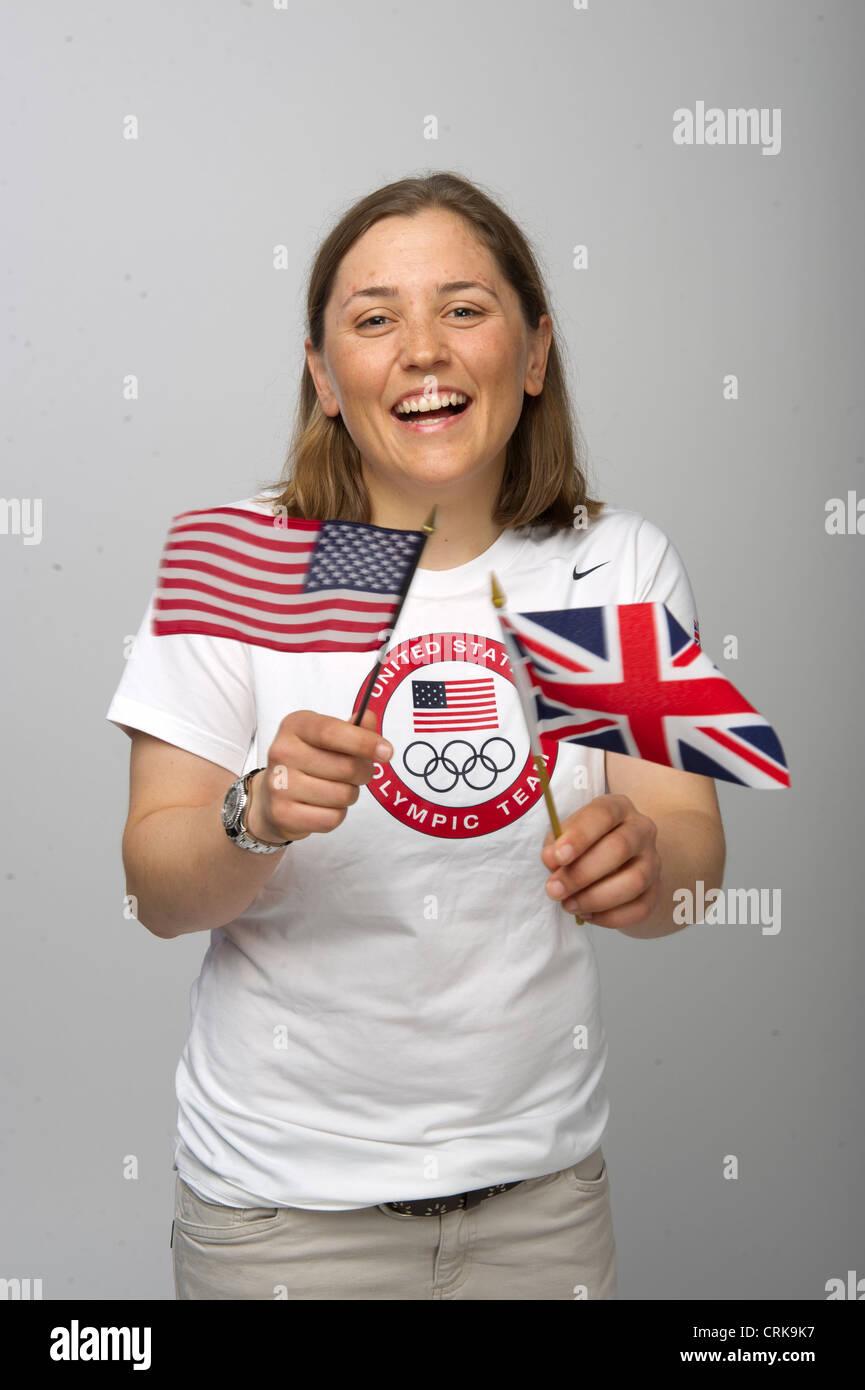 Team USA sailing champion Debbie Capozzi at the Team USA Media Summit in Dallas, TX prior to the London Olympics - Stock Image