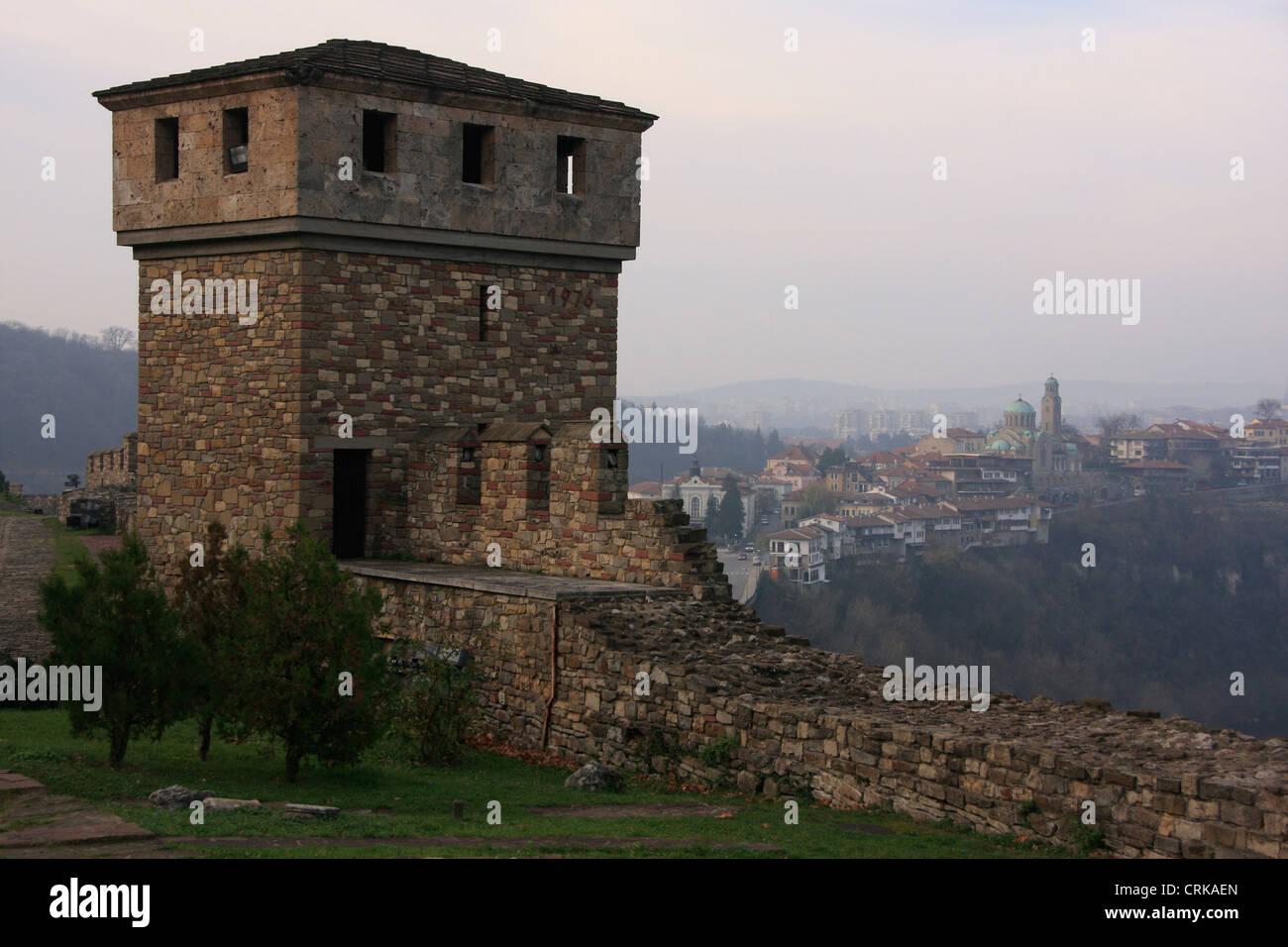 Tsarevets Medieval Fortress, Veliko Tarnovo, Bulgaria Stock Photo