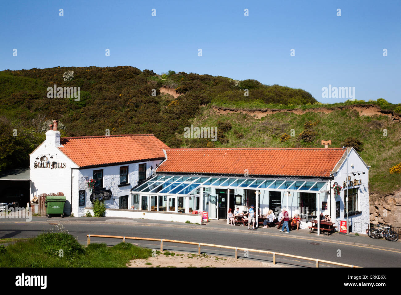 Old Scalby Mills Pub Scarborough North Yorkshire England - Stock Image