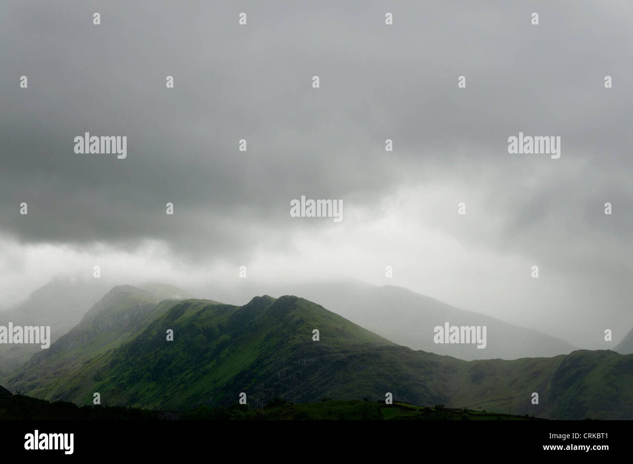 An atmoshpheric day in Snowdonia Stock Photo