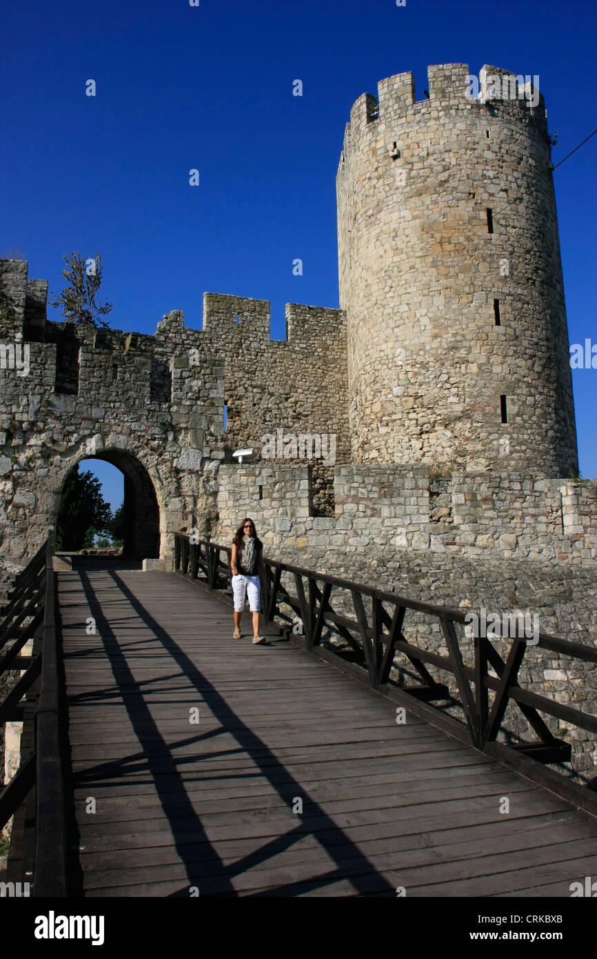 Despot Stefan Tower and Despot's gate, Kalemegdan, Belgrade, Serbia - Stock Image