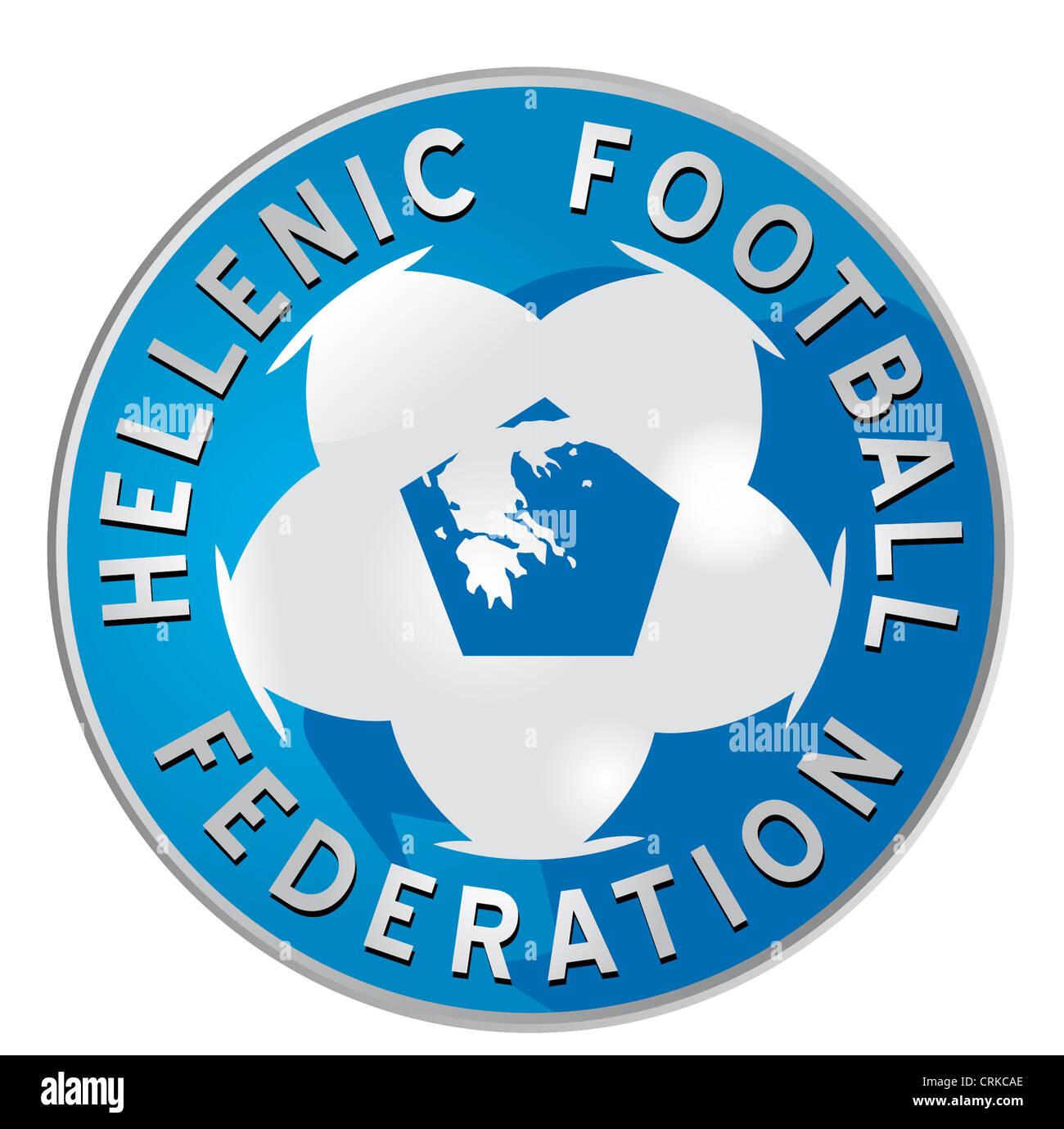 Logo of the Greek Football Association HFF. - Stock Image