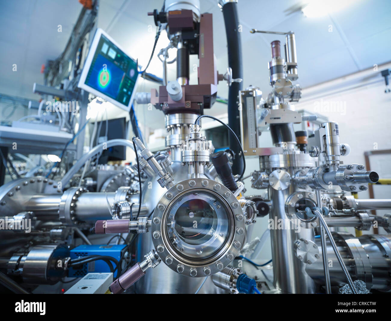 Vacuum chamber in lab - Stock Image