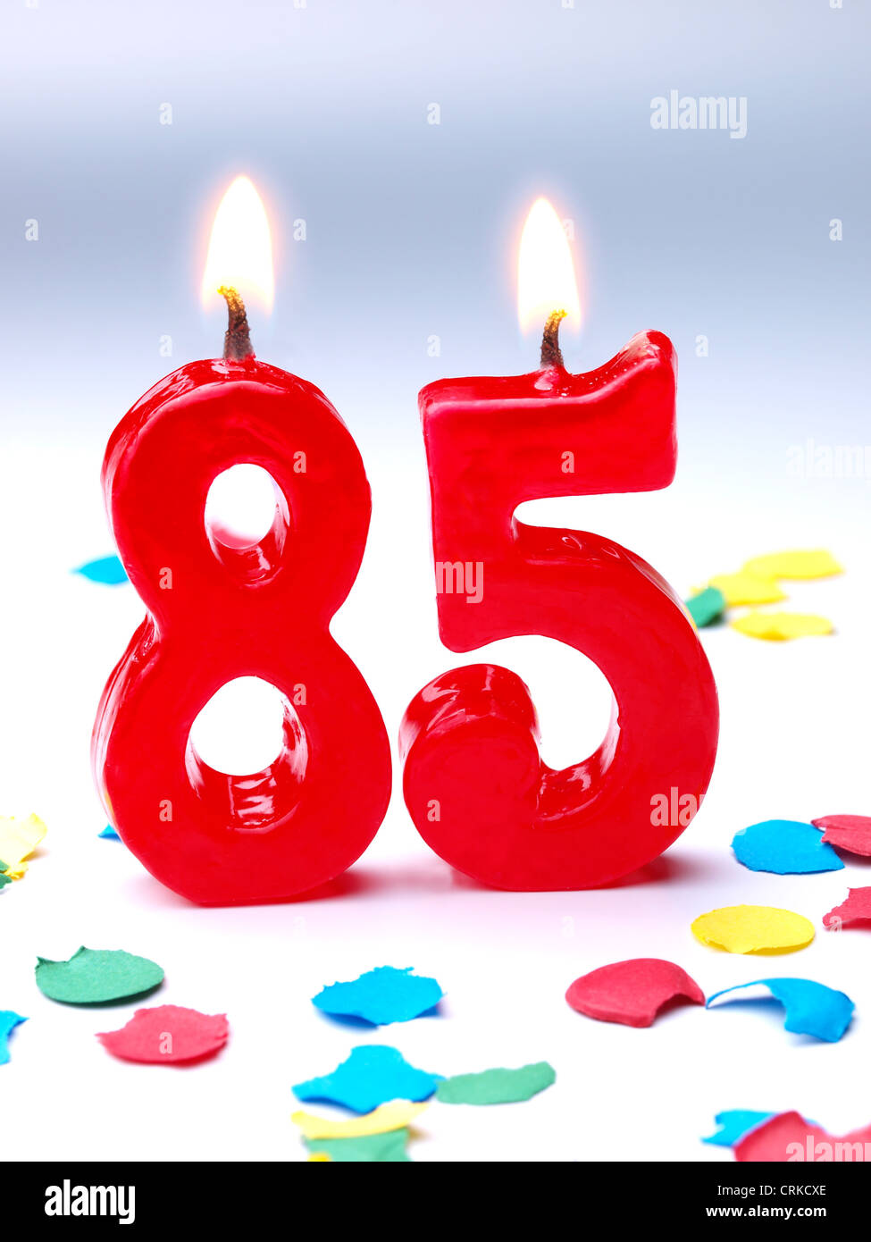 Birthday-anniversary candles showing Nr. 85