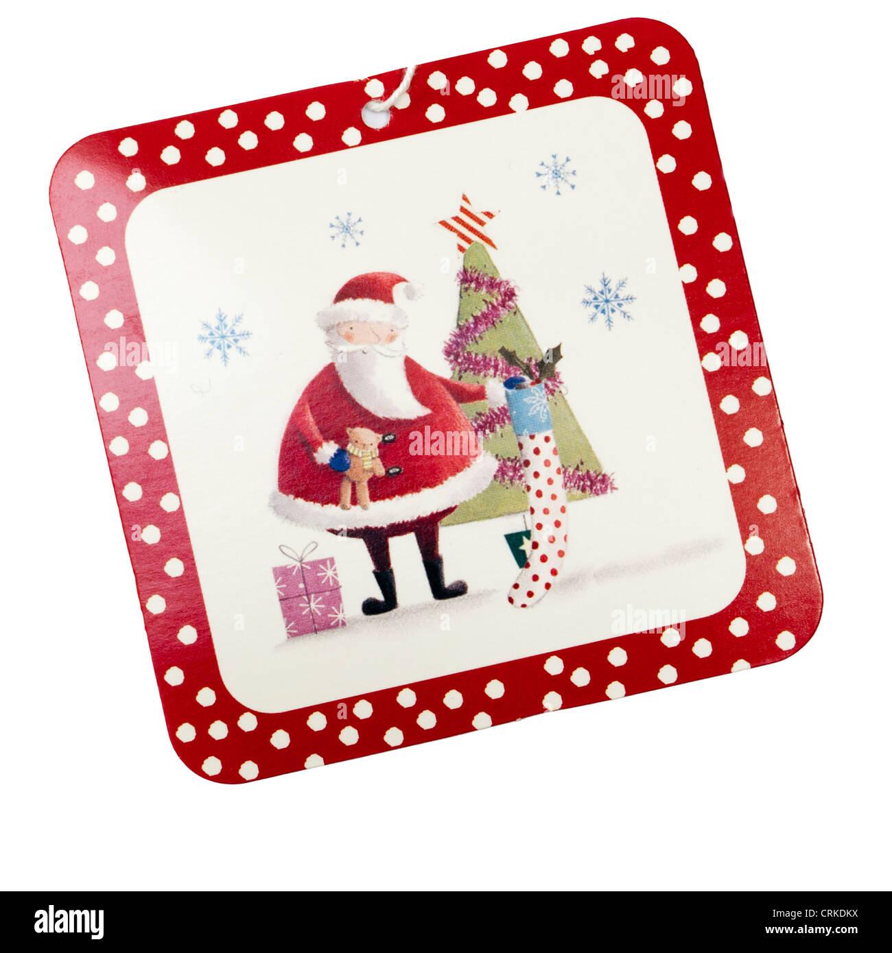 xmas christmas gift tag label stock photo 48985662 alamy