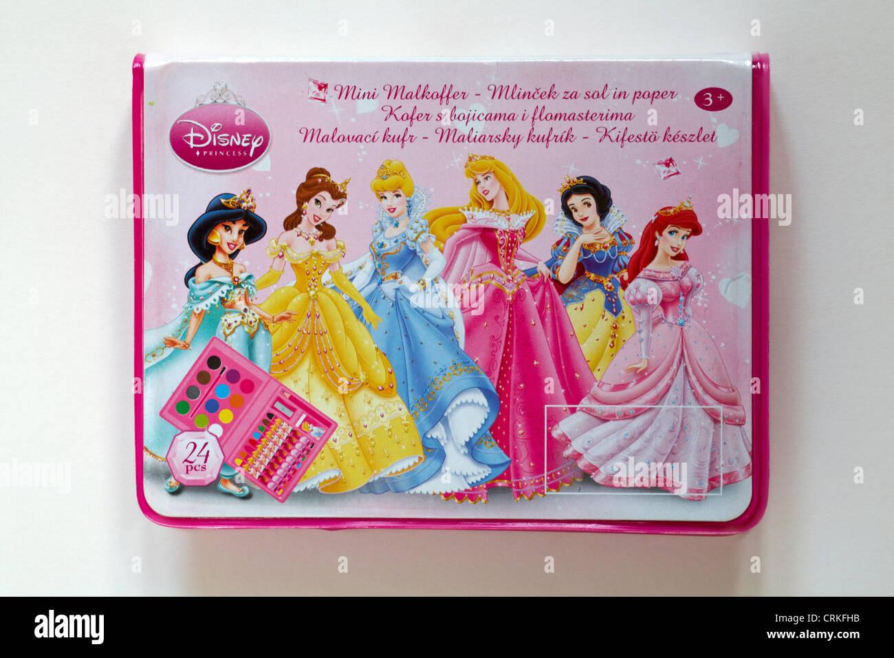 2de14b327 Disney Princess colouring set isolated on white background - Stock Image