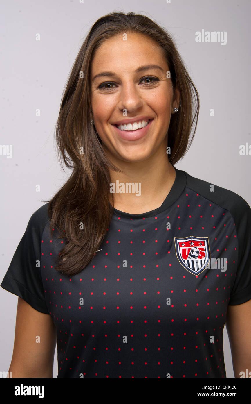 Soccer player Carli Lloyd at the Team USA Media Summit in ...