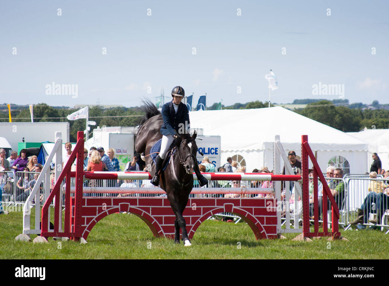 Show jumping at Showground - Stock Image