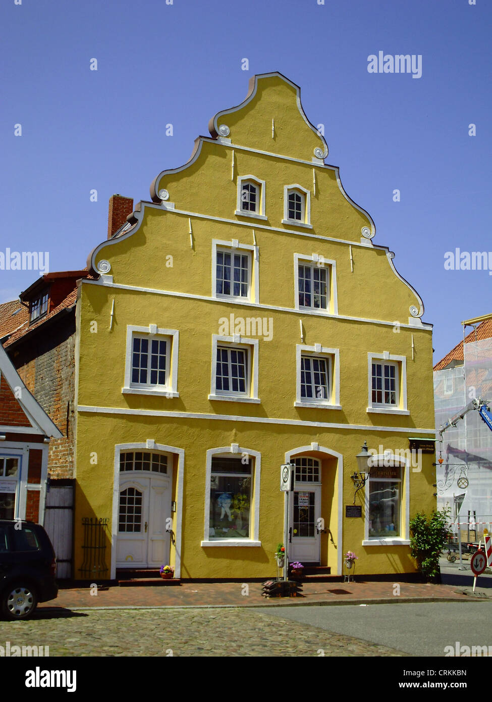 Baroque gable house in Otterndorf, Lower Saxony, Germany - Stock Image