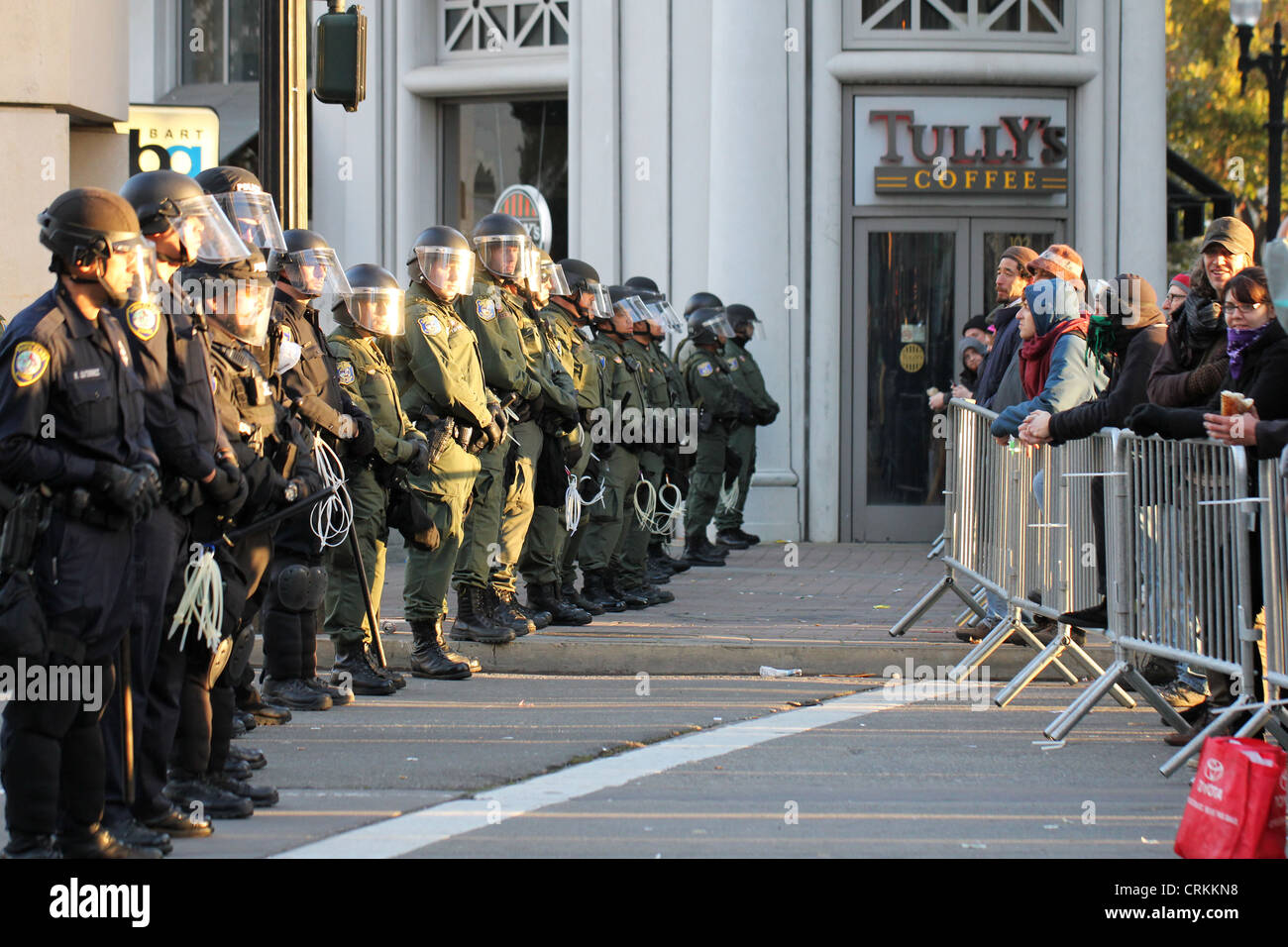 Aftermath of the November eviction of the Occupy Oakland occupation. - Stock Image