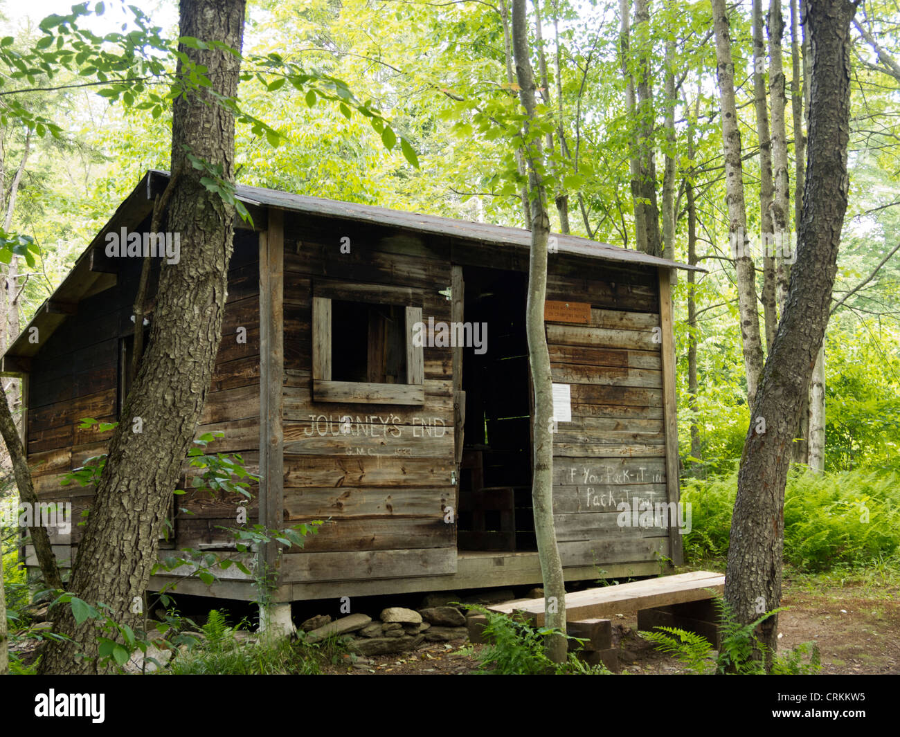 Journey's End Camp, Short Trail, Waterbury Center, Vermont, USA - Stock Image