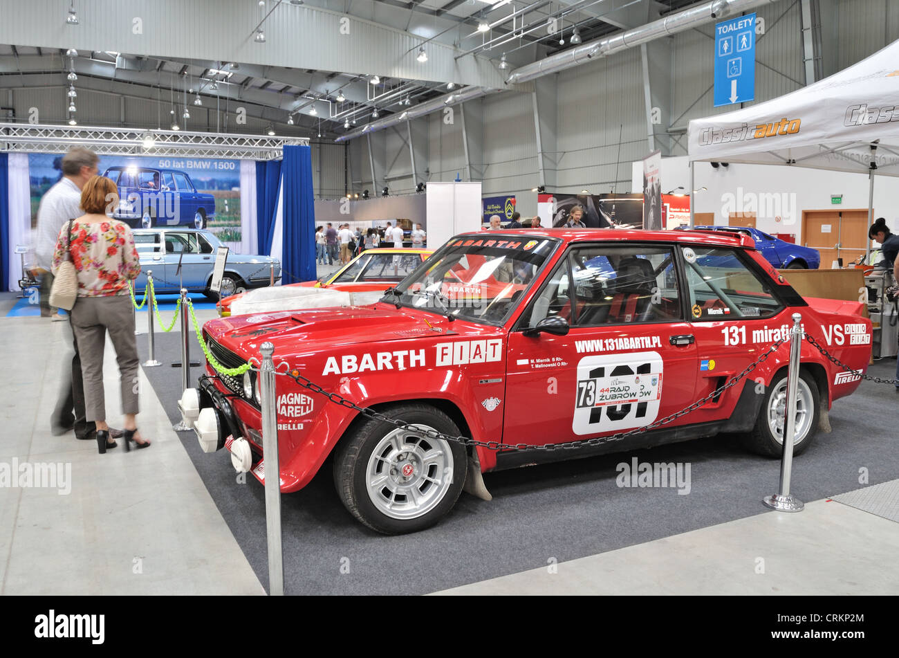 Vintage Car Fiat 131 Abarth Rally Stock Photo Alamy