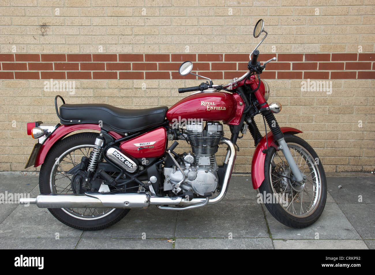 Royal Enfield Bullet Motorcycle British Designed Manufactured in India - Stock Image