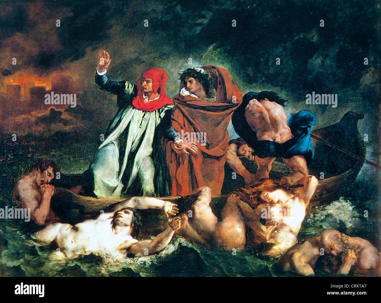 Eugene Delacroix – The Barque of Dante - Stock Image