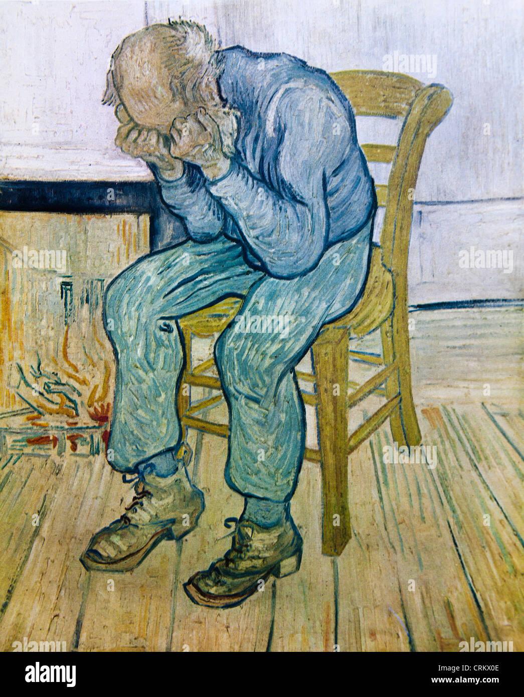 Old Man in Sorrow - Van Gogh - Stock Image