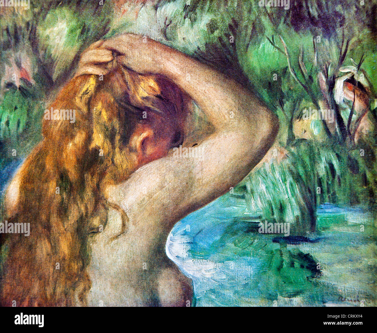 Bather tying up her Hair - Renoir - Stock Image