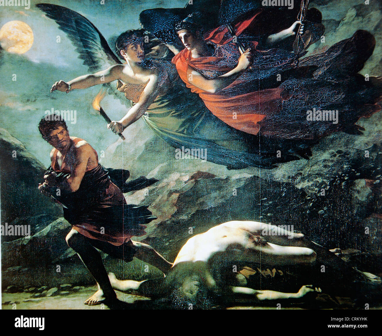 Justice and Divine Vengeance Pursuing Crime - Stock Image