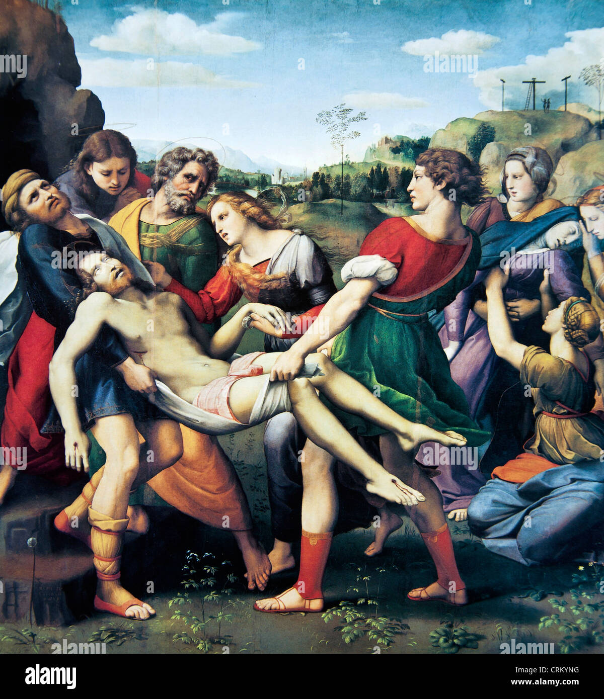 The Entombment, Raphael - Stock Image