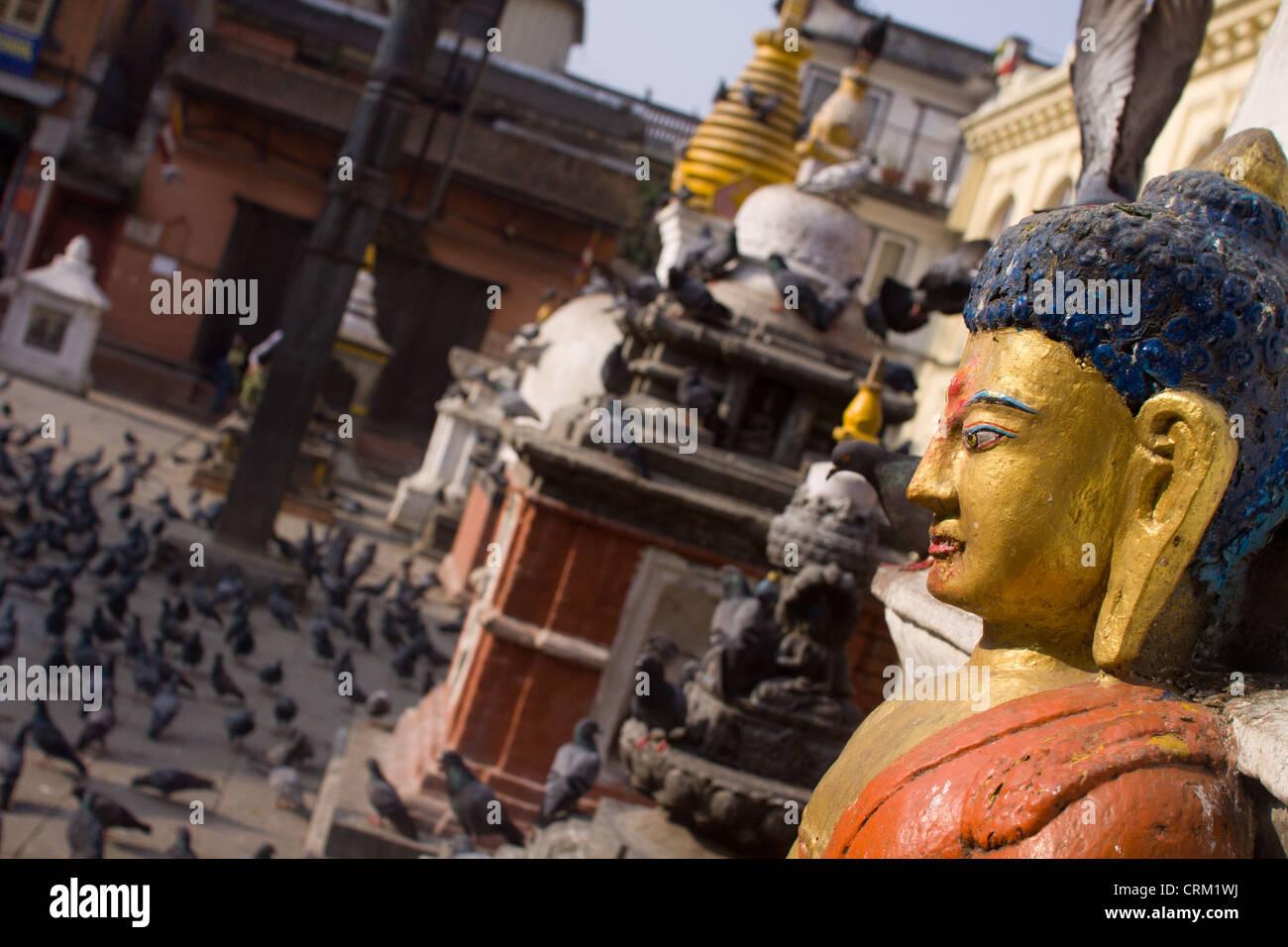 Katmandu, temple complex. Pictured in Asia, Nepal, Katmandu on March 30, 2011. (CTK Photo/David Tesinsky) - Stock Image