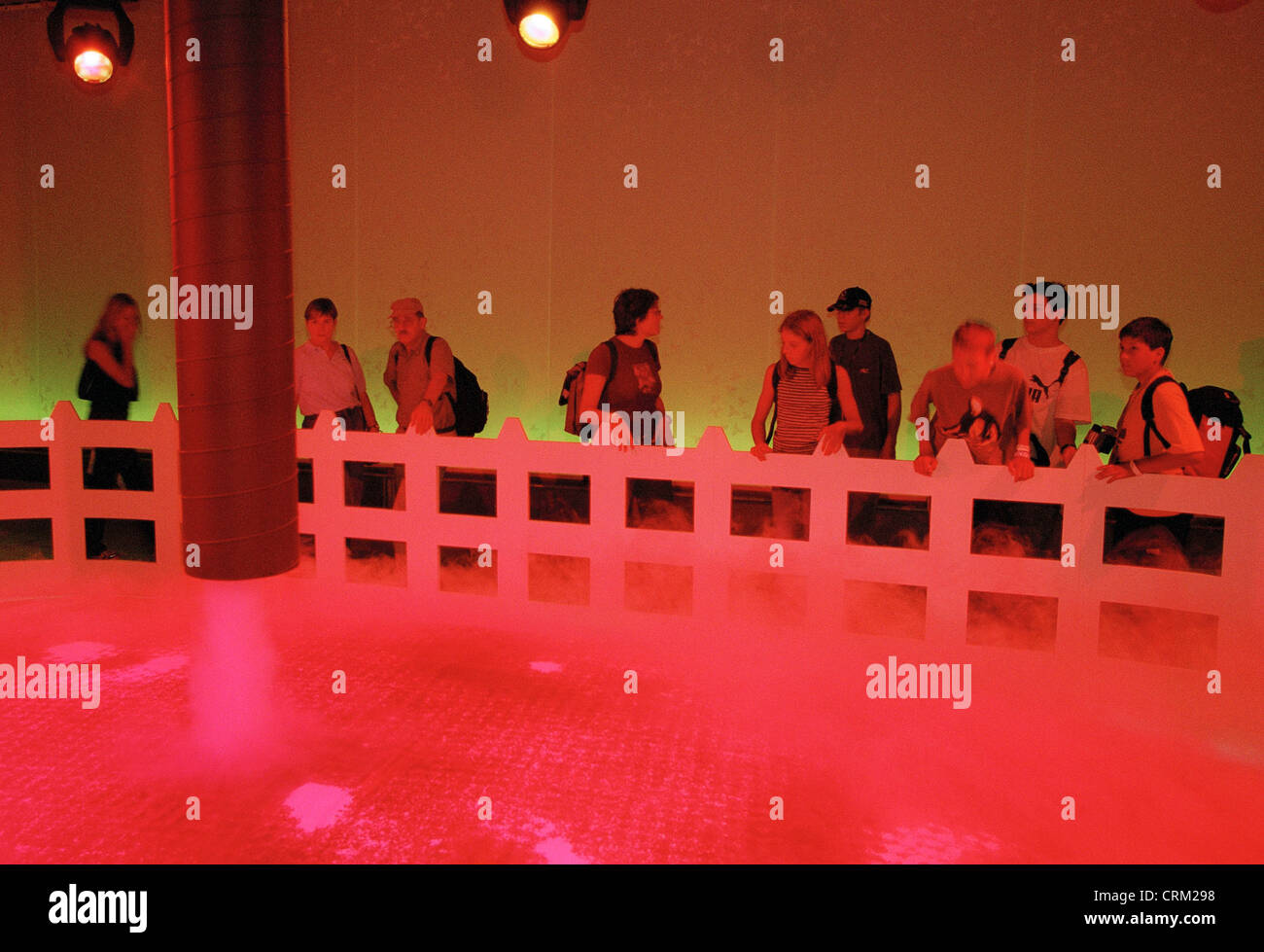 A school class is considered an art installation - Stock Image