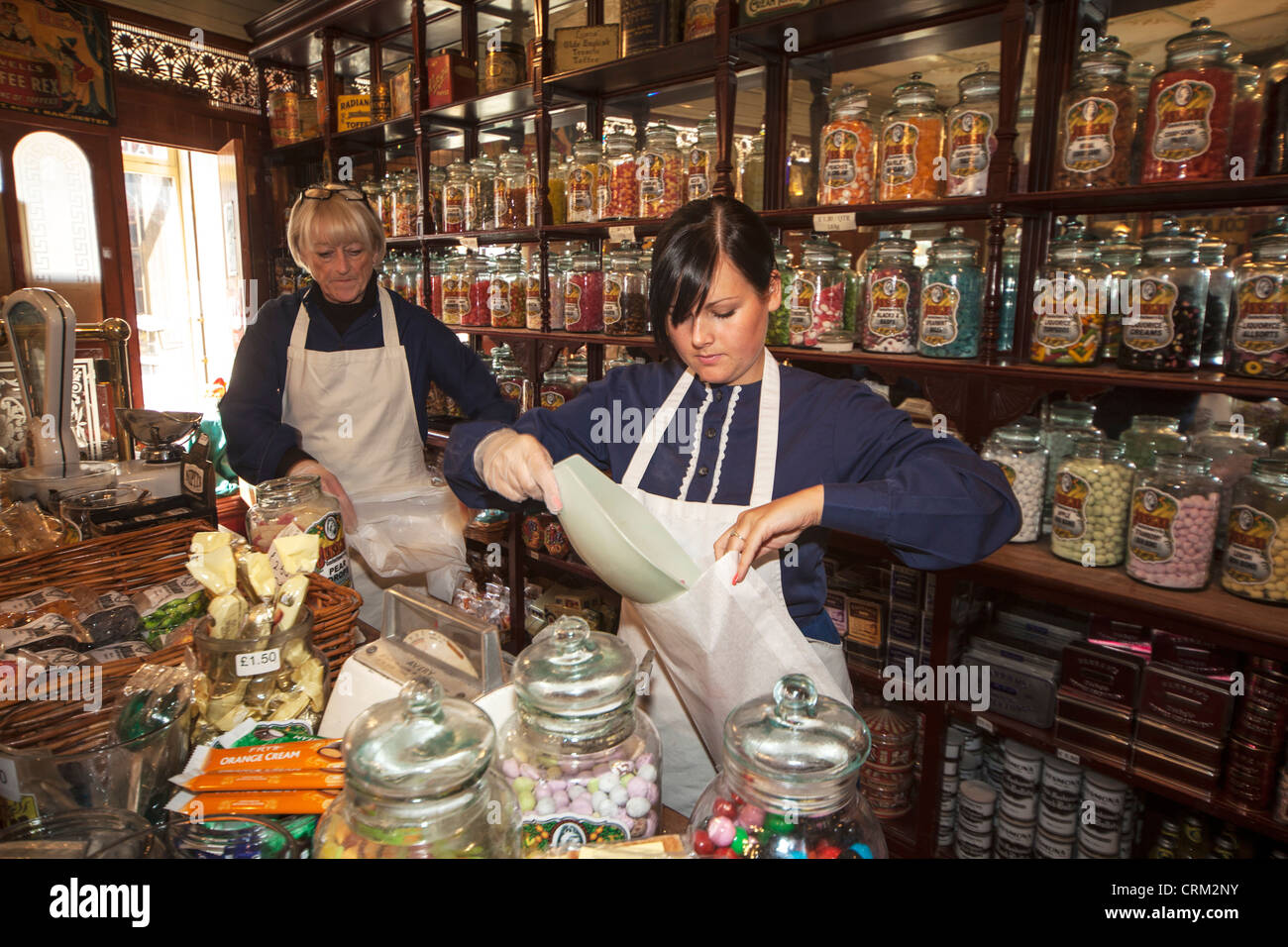 The Sweet Shop, Beamish Open Air Museum, County Durham - Stock Image