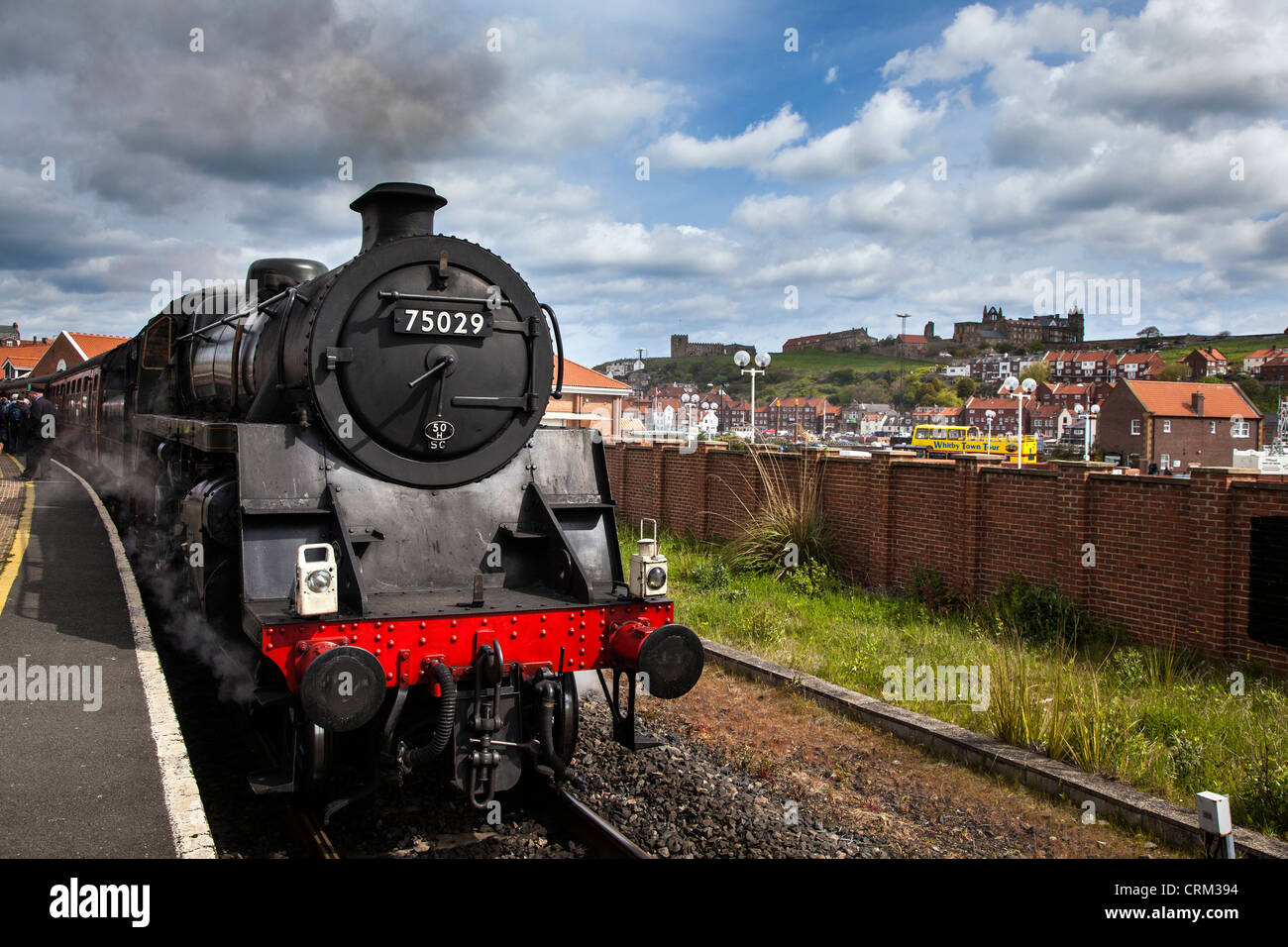 BR Standard Class 4MT No 75029 Steam Engine at Whitby, North York Moors Railway - Stock Image