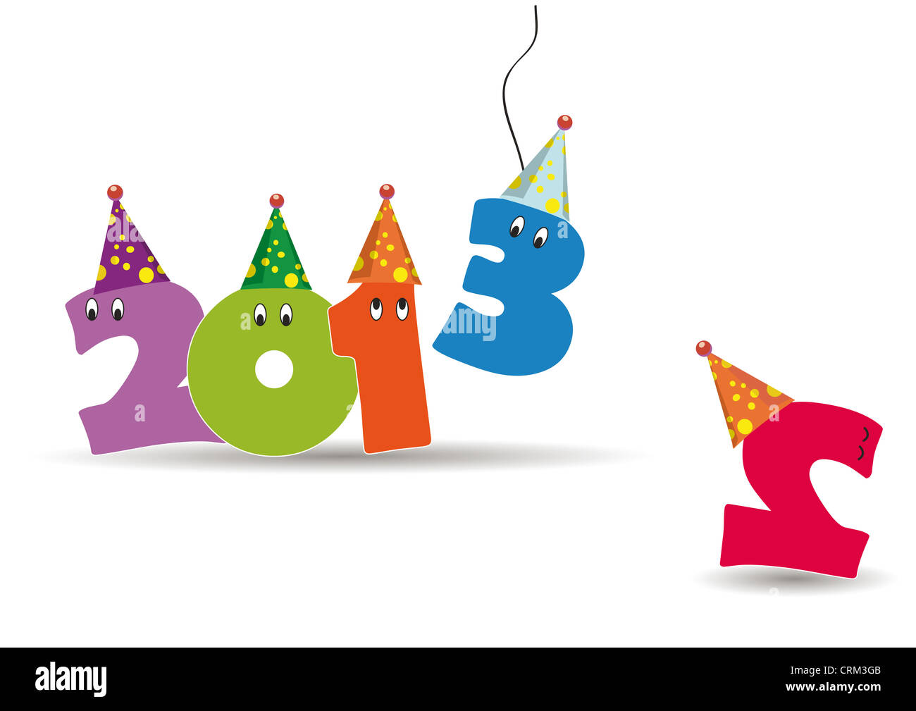 Cute card on New Year 2013 with funny numbers Stock Photo: 48999675 ...