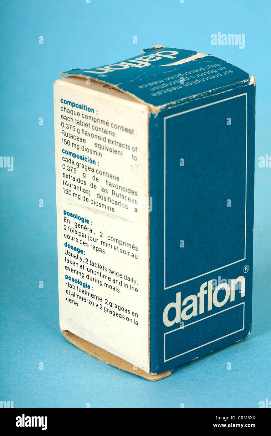 Daflon Used in the treatment of venous disease. - Stock Image
