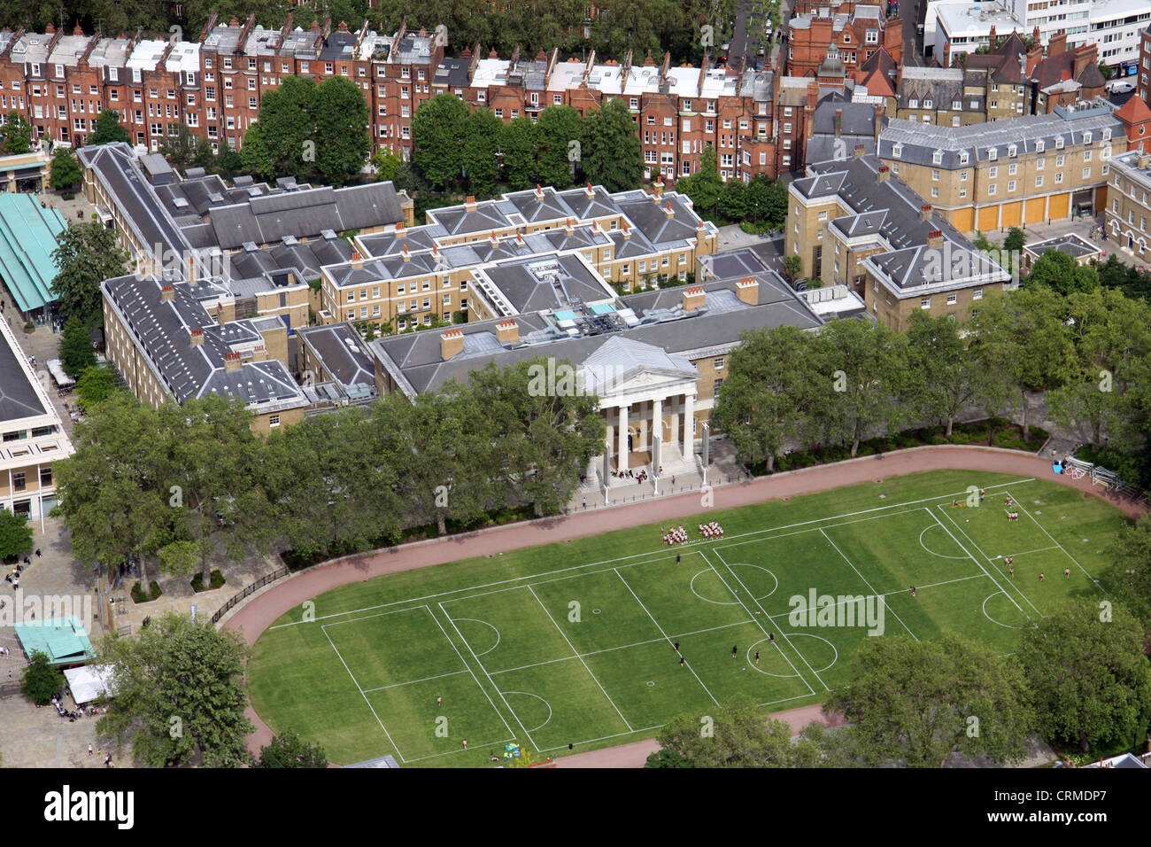 aerial view of the Saatchi Gallery, Lower Sloane Street, London SW3 - Stock Image
