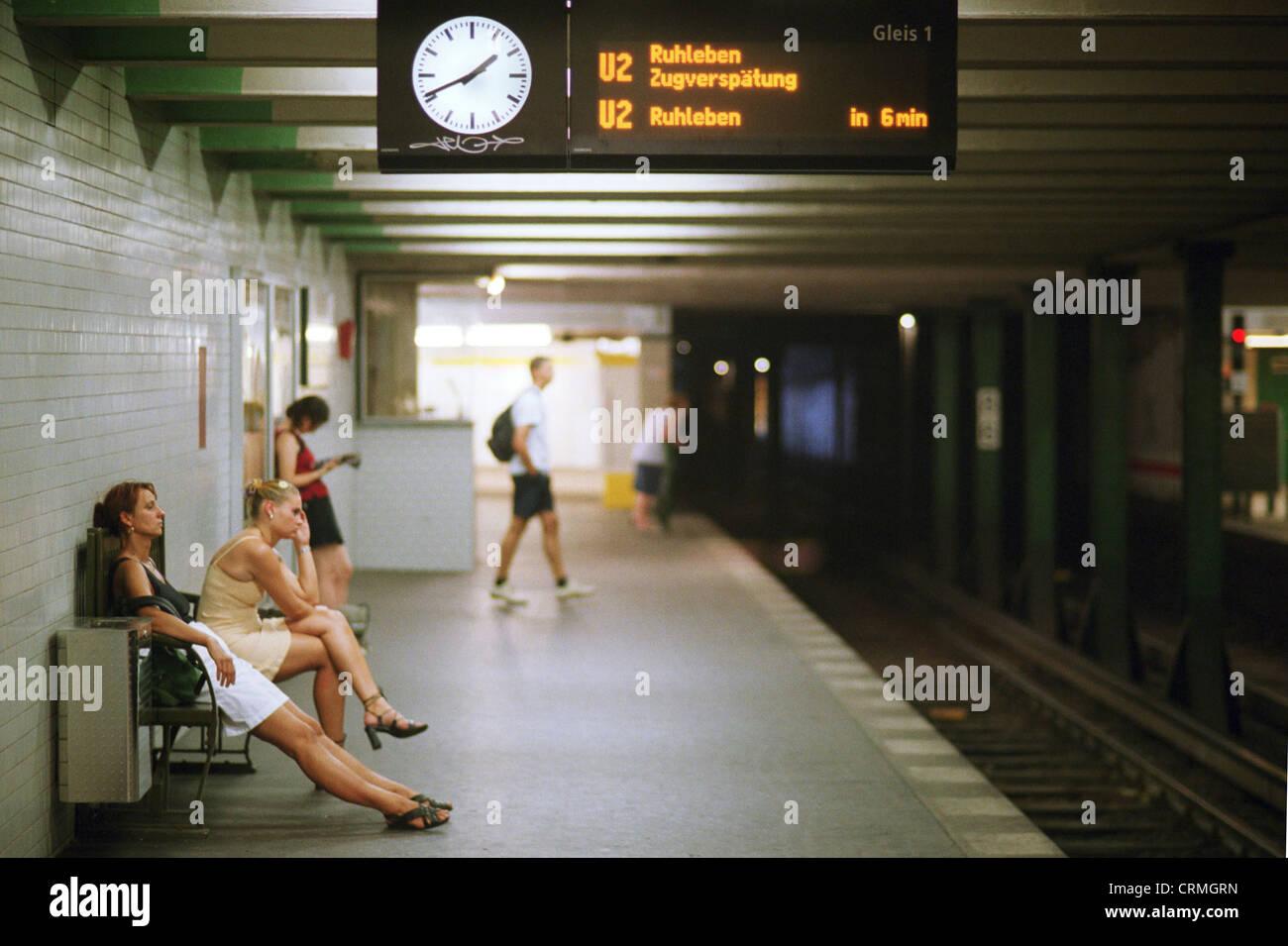 Delayed at Metro, Berlin - Stock Image