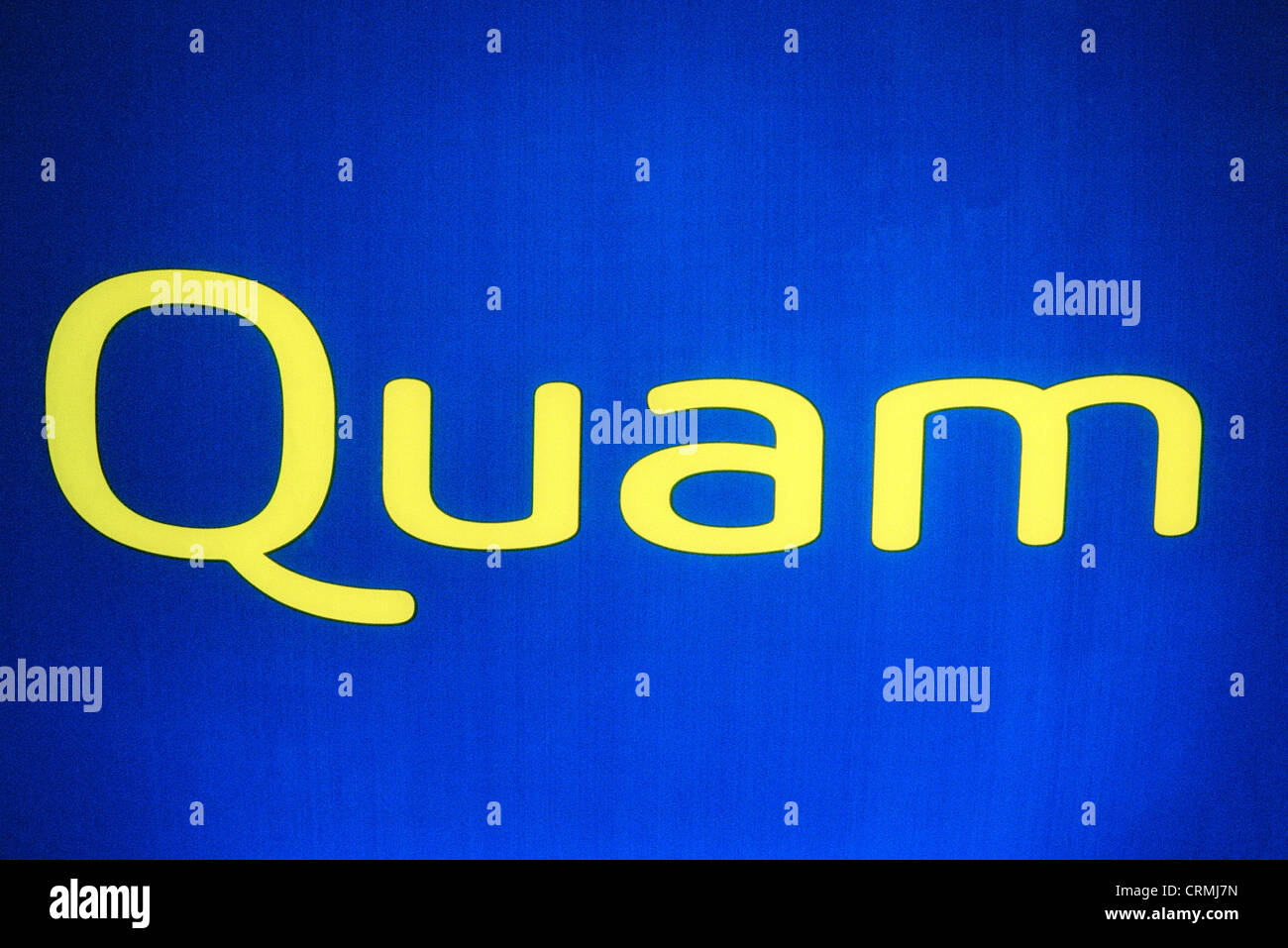 Logo of the mobile phone company Quam - Stock Image