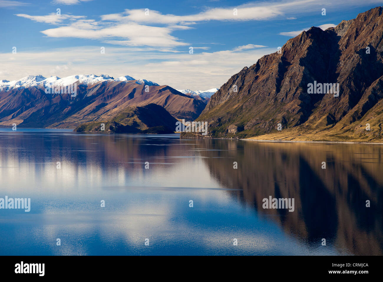 Lake Hawea, South Island of New Zealand - Stock Image
