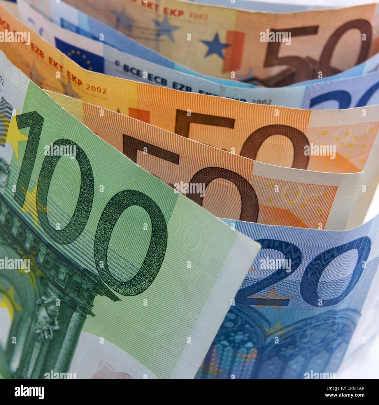 Euros / Euro banknotes. - Stock Image