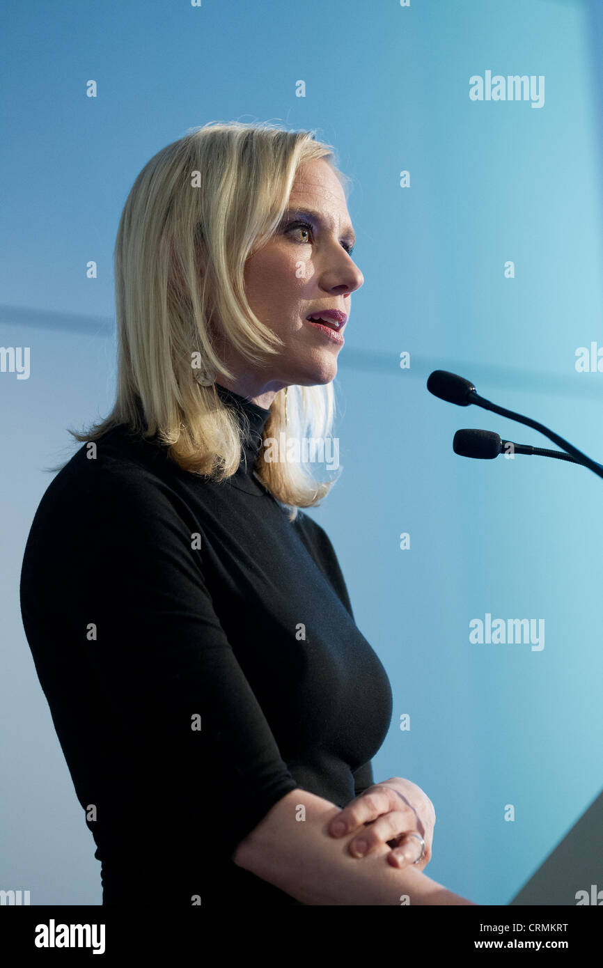 Marne Levine VP Public Policy facebook business us confident woman women expressive expression gesture gestures - Stock Image