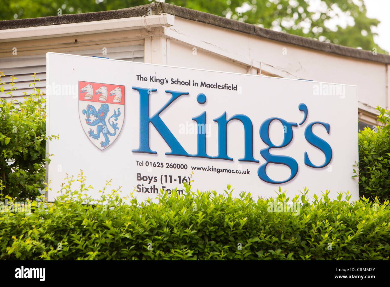 The Kings School in Macclesfield, Cheshire, UK. This ancient grammar school was founded in 1502. - Stock Image